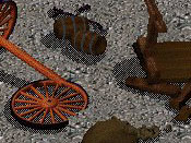 Sadly, the wheel's desire to conquer man kind was crushed that day, when it unwittingly ran into a pile of Debris.  And so ended the threat of The Wheel, and the world slept forever more.