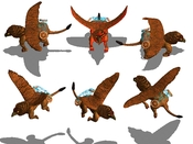 The Gryphon (top row: attacking, bottom row: moving)