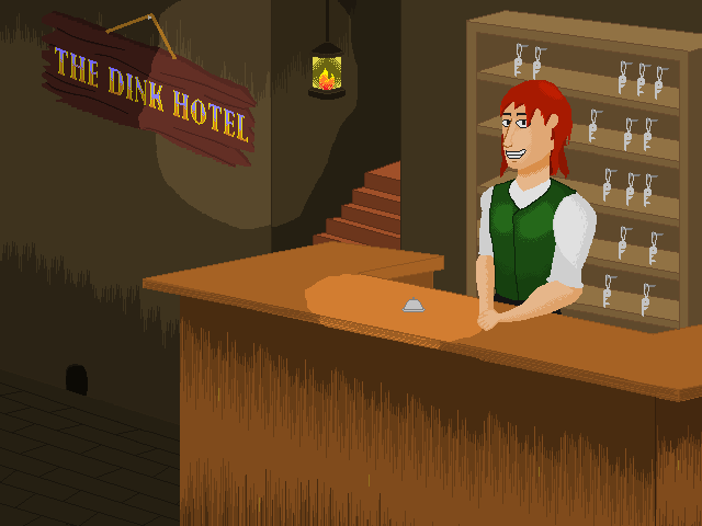 Bluedy's excellent title screen for The Dink Hotel