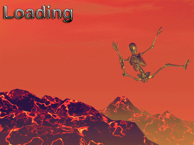 The best loading screen ever. From the COTPATD project.